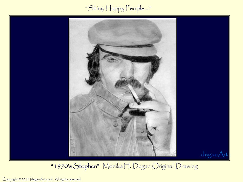 1970's Stephen Monika H. Degan Original Drawing Copyright © 2010 [deganArt.com].