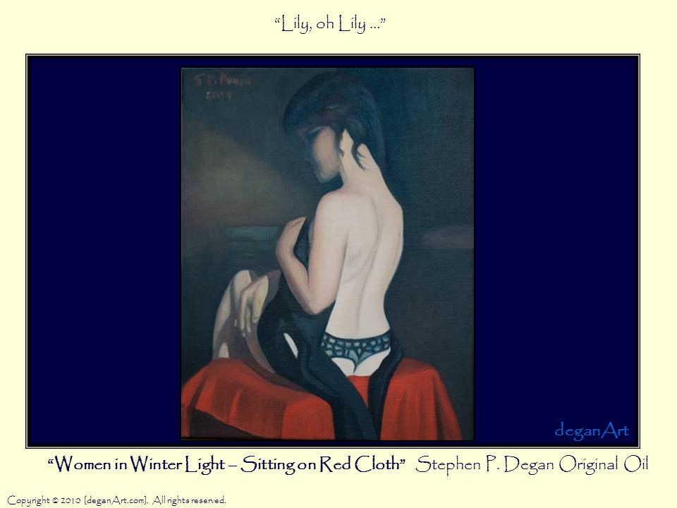 Women in Winter Light – Sitting on Red Cloth Stephen P.