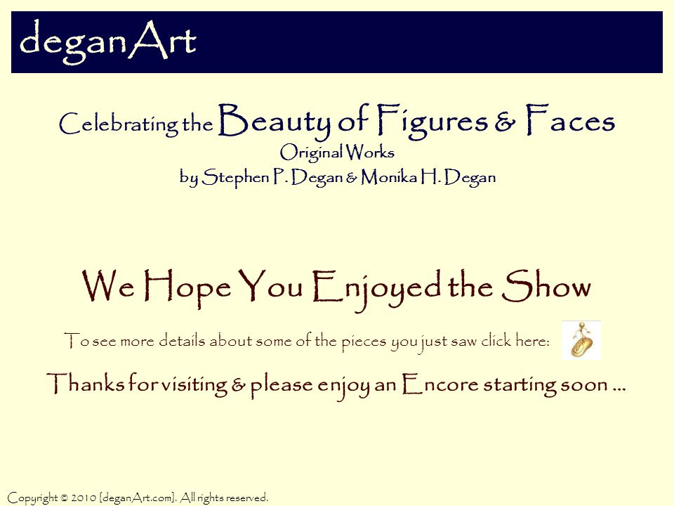 deganArt Celebrating the Beauty of Figures & Faces Original Works by Stephen P.