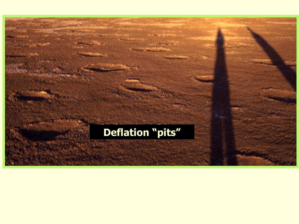 Deflation pits