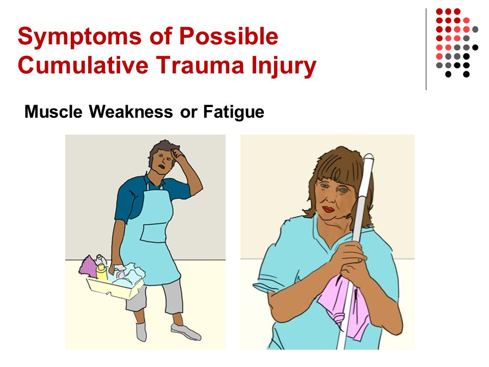 Symptoms of Possible Cumulative Trauma Injury Muscle Weakness or Fatigue