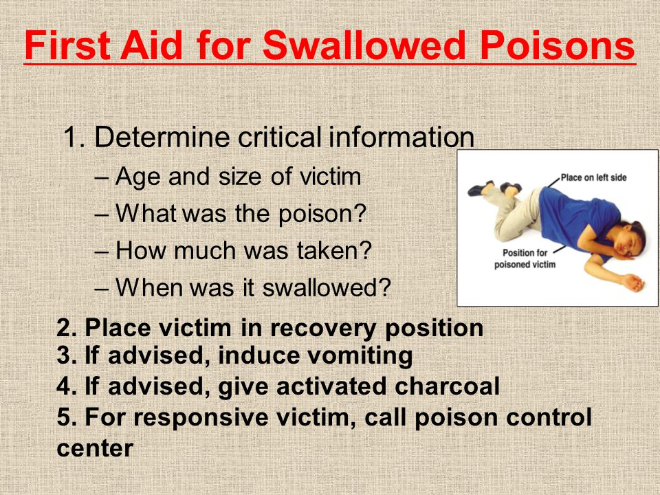 1. Determine critical information –Age and size of victim –What was the poison.