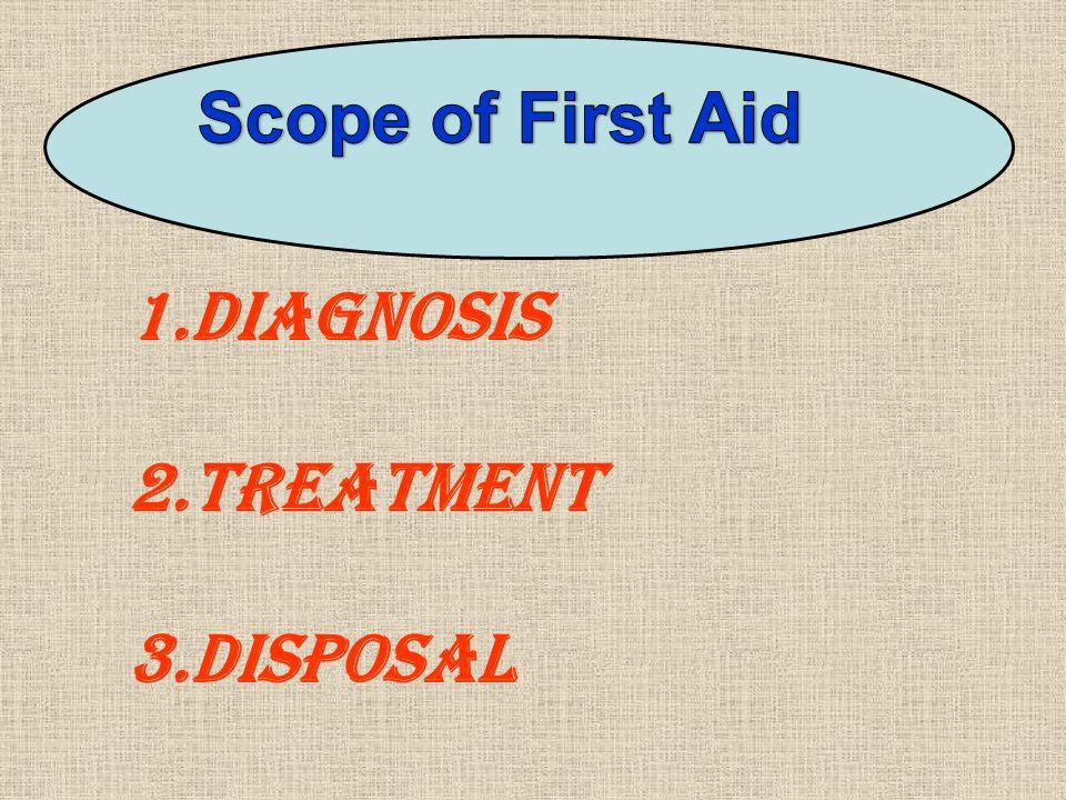 1.Diagnosis 2.Treatment 3.Disposal