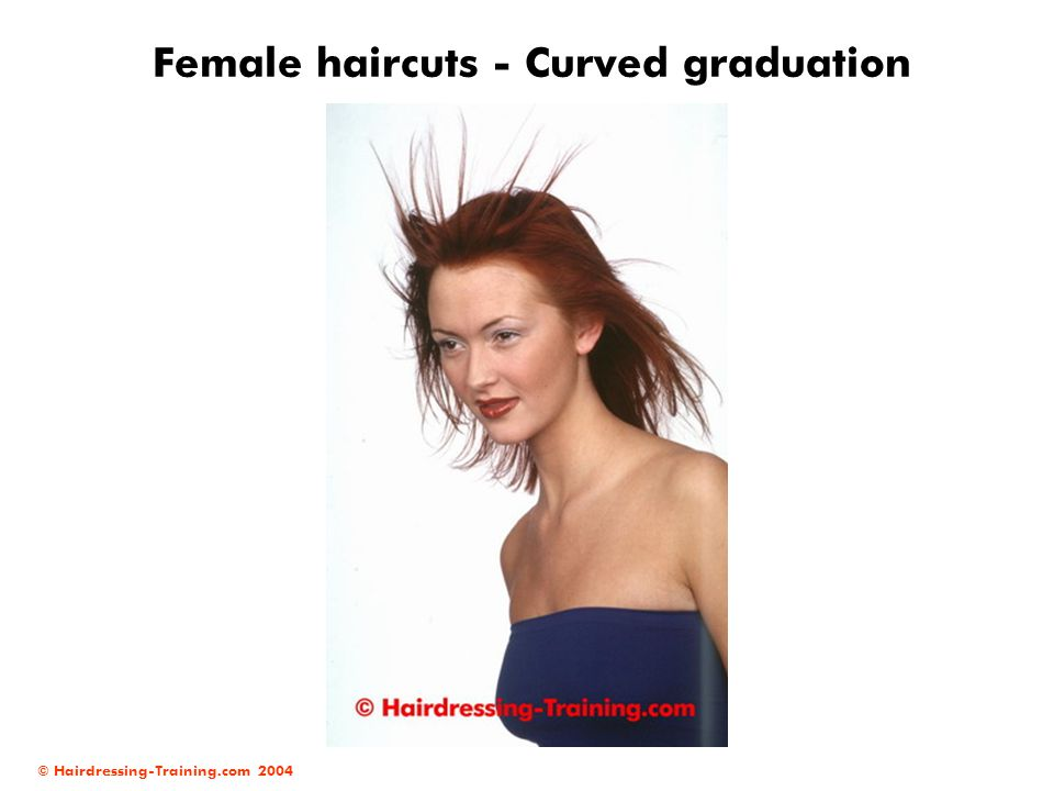 © Hairdressing-Training.com 2004 Female haircuts - Curved graduation
