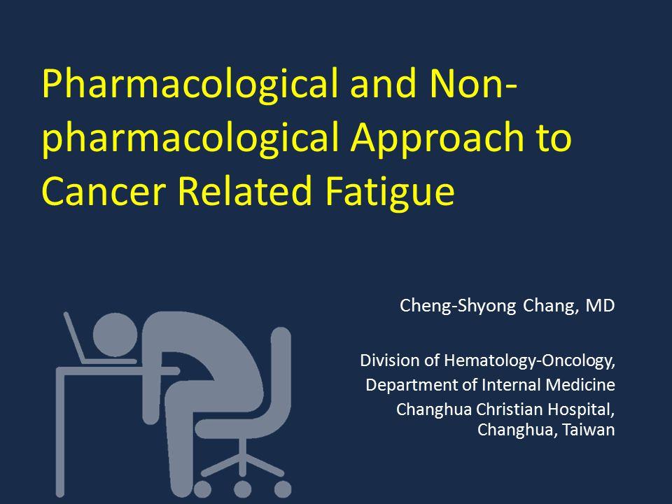 Agenda Epidemiology CRF symptom and Pathophysiology Pharmacological and Non-pharmacological Approach Conclusion