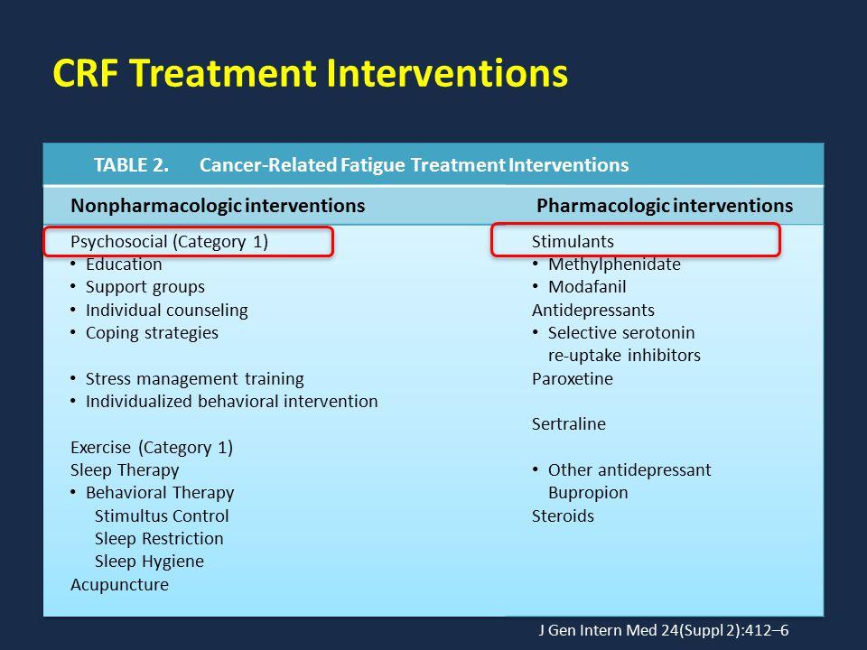 CRF Treatment Interventions J Gen Intern Med 24(Suppl 2):412–6