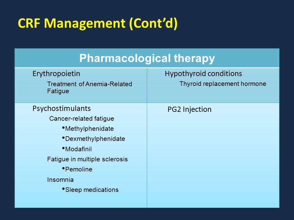 CRF Management (Cont'd)