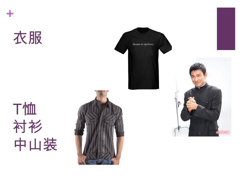 + 衣服 T 恤 衬衫 中山装