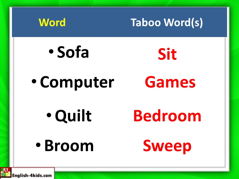 Sofa Sit ComputerGames QuiltBedroom Broom Sweep