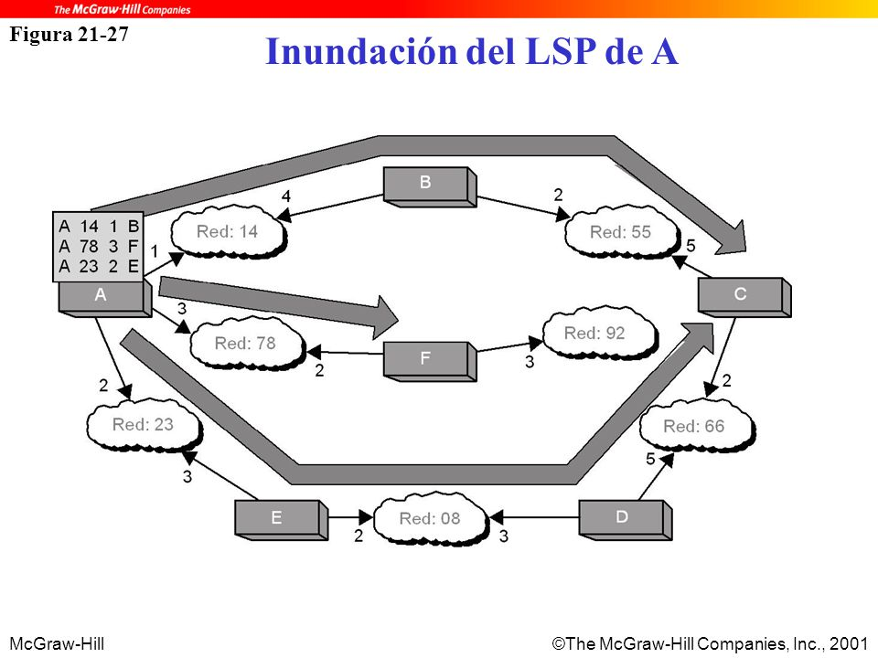 McGraw-Hill©The McGraw-Hill Companies, Inc., 2001 Figura 21-27 Inundación del LSP de A