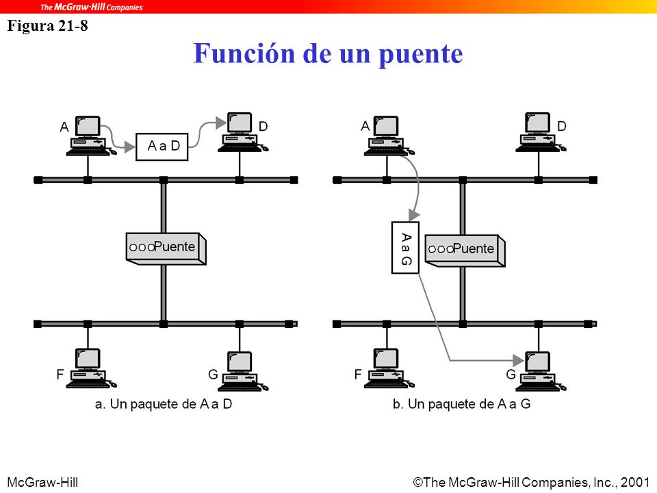 McGraw-Hill©The McGraw-Hill Companies, Inc., 2001 Figura 21-8 Función de un puente