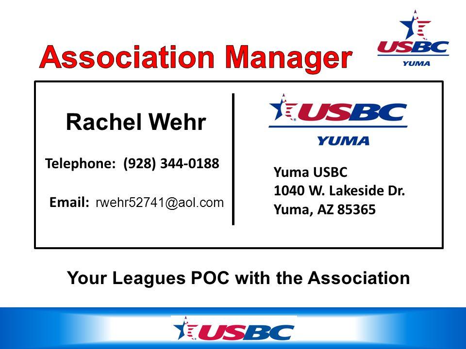 Rachel Wehr Yuma USBC 1040 W. Lakeside Dr.