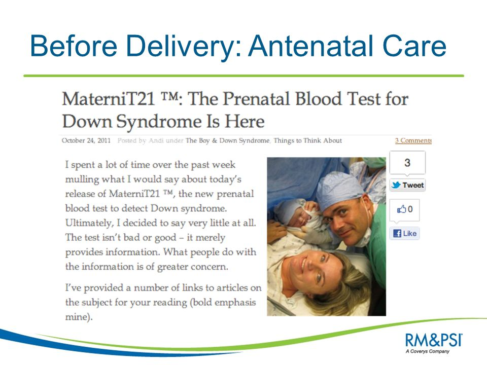 Before Delivery: Antenatal Care