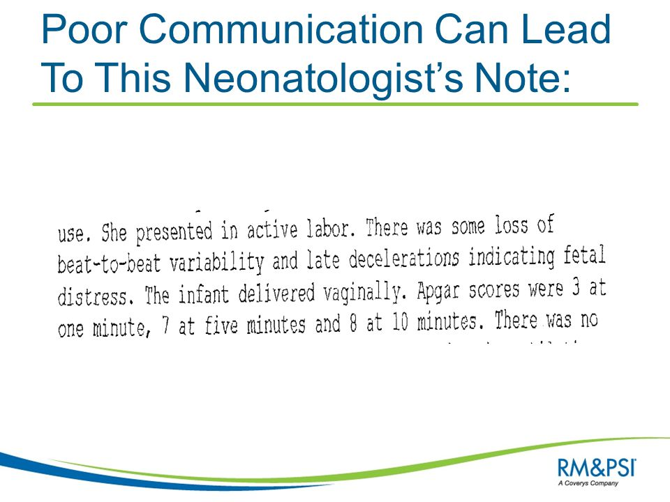 Poor Communication Can Lead To This Neonatologist's Note: Neonatologists note: