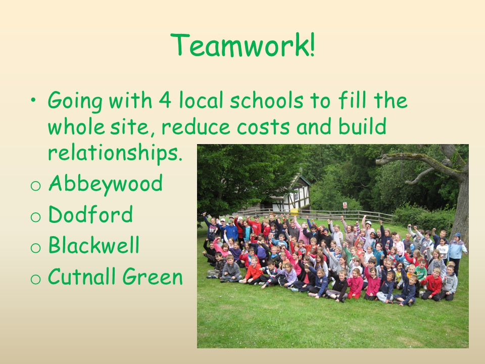 Teamwork. Going with 4 local schools to fill the whole site, reduce costs and build relationships.