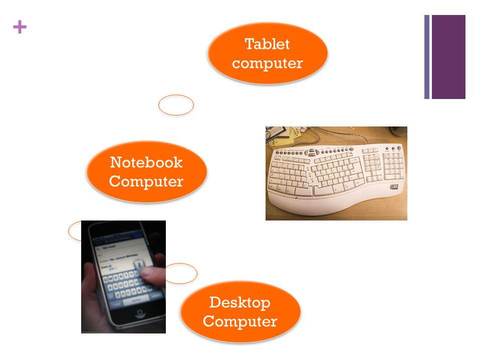 + Tablet computer Desktop Computer Notebook Computer Notebook Computer