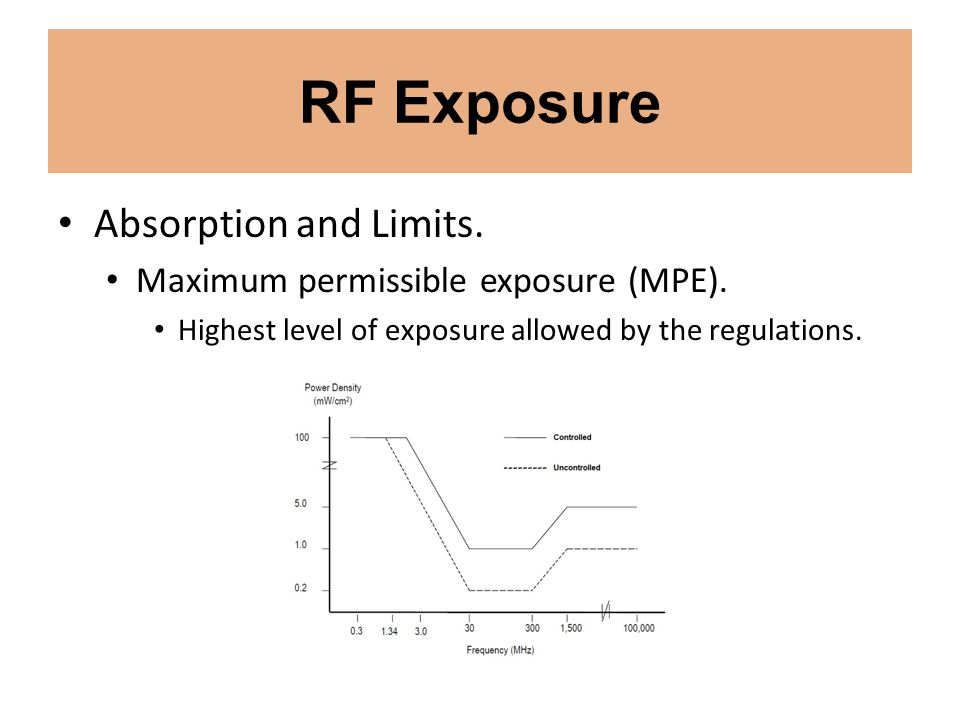 RF Exposure Absorption and Limits. Maximum permissible exposure (MPE).