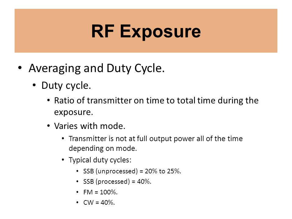 RF Exposure Averaging and Duty Cycle. Duty cycle.