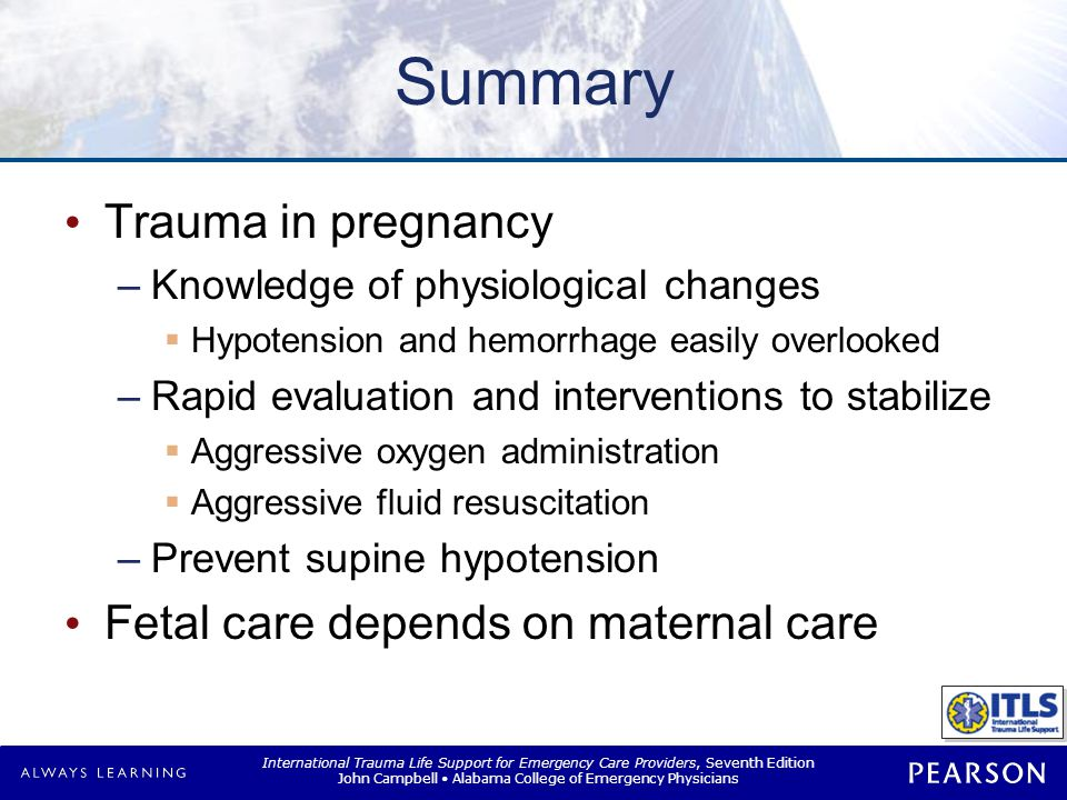 International Trauma Life Support for Emergency Care Providers, Seventh Edition John Campbell Alabama College of Emergency Physicians Summary Trauma i