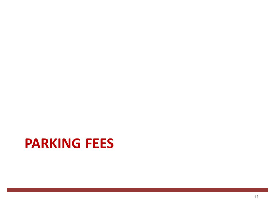 PARKING FEES 11