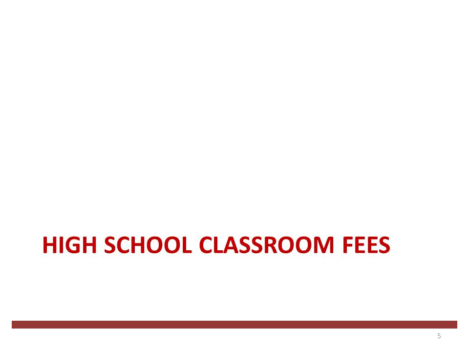 EXTRACURRICULAR AND PARTICIPATION FEES 16