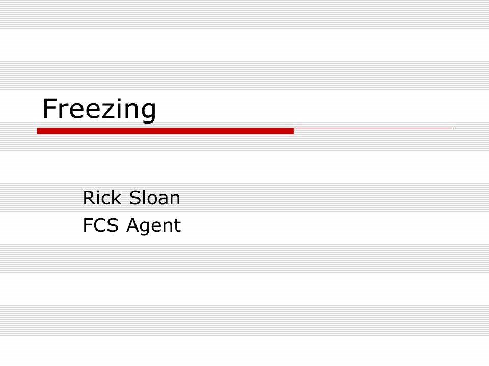 Freezing Rick Sloan FCS Agent