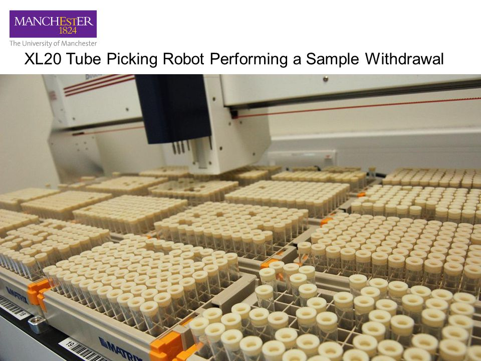 XL20 Tube Picking Robot Performing a Sample Withdrawal