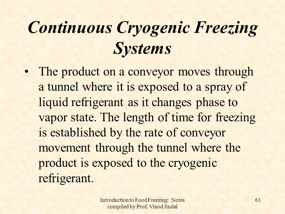 Introduction to Food Freezing: Notes compiled by Prof. Vinod Jindal 64
