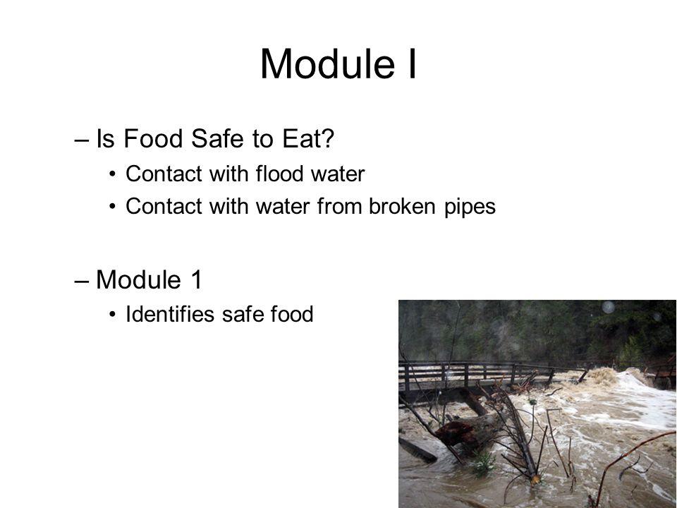 Module I –Is Food Safe to Eat.