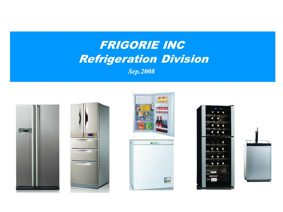 FRIGORIE INC Refrigeration Division Sep.2008