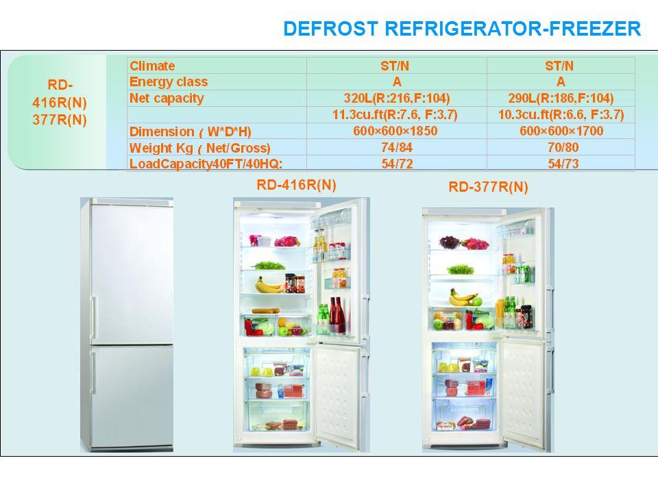 RD- 416R(N) 377R(N) DEFROST REFRIGERATOR-FREEZER DOUBLE DOORS RD-416R(N) RD-377R(N)