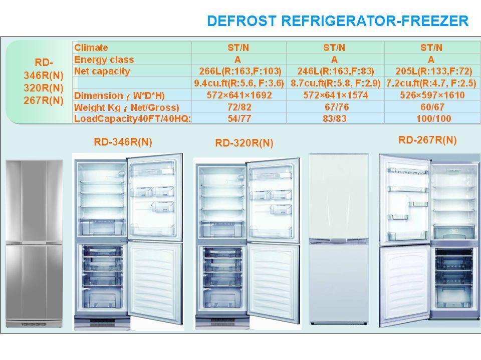 RD- 346R(N) 320R(N) 267R(N) DEFROST REFRIGERATOR-FREEZER DOUBLE DOORS RD-346R(N) RD-320R(N) RD-267R(N)