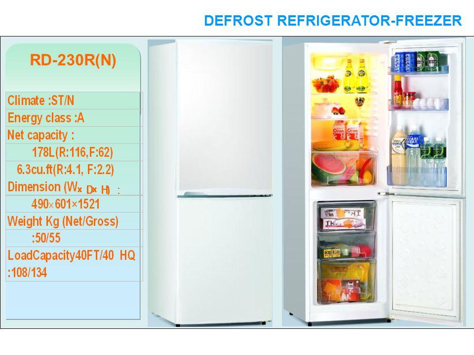 RD-230R(N) DEFROST REFRIGERATOR-FREEZER DOUBLE DOORS