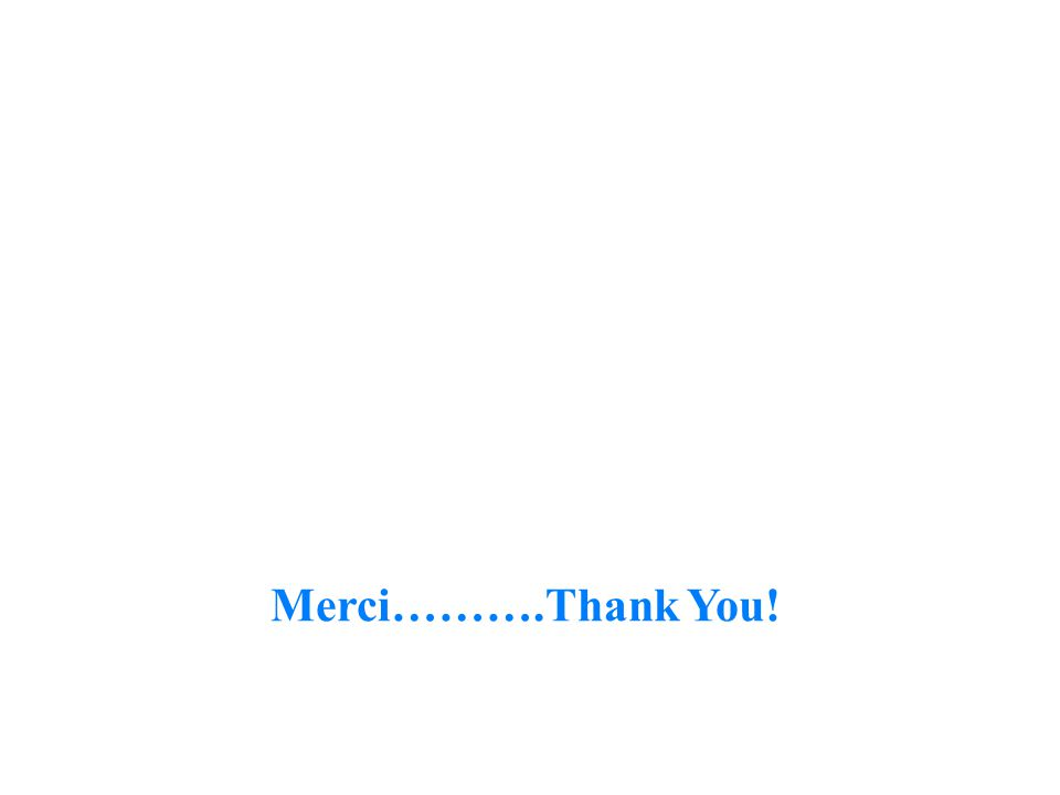 Merci……….Thank You!