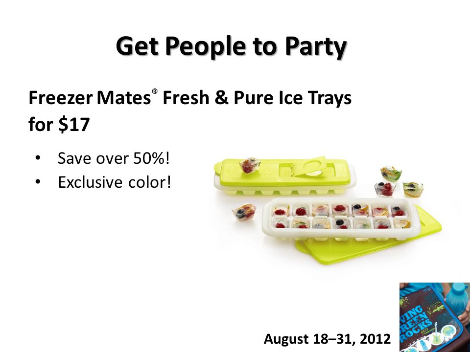 Get People to Party Freezer Mates ® Fresh & Pure Ice Trays for $17 Save over 50%.