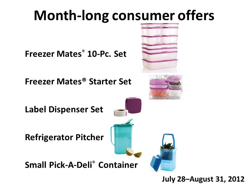 Month-long consumer offers Freezer Mates ® 10-Pc.