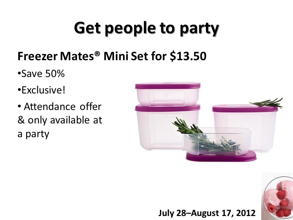 Get people to party Freezer Mates® Mini Set for $13.50 Save 50% Exclusive.