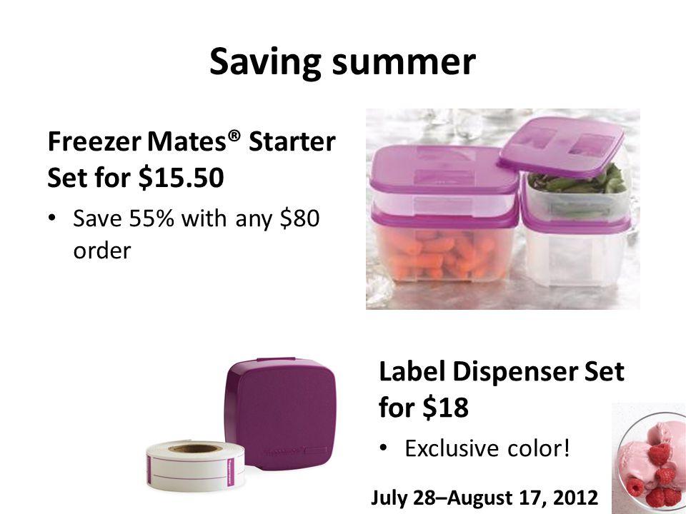 Saving summer Label Dispenser Set for $18 Exclusive color.