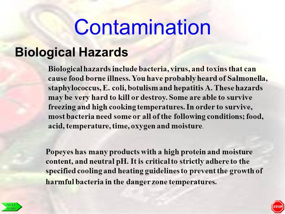 HACCP Temperature Bacteria thrive in the Temperature Danger Zone!.