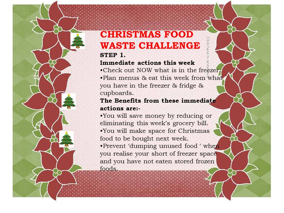CHRISTMAS FOOD WASTE CHALLENGE STEP 1.