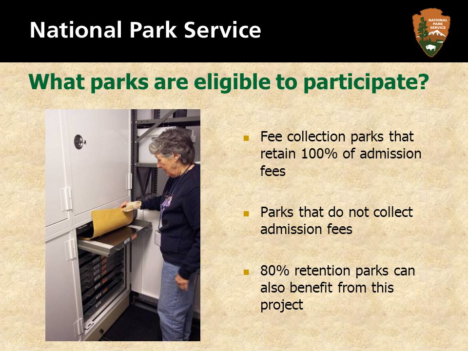What parks are eligible to participate.