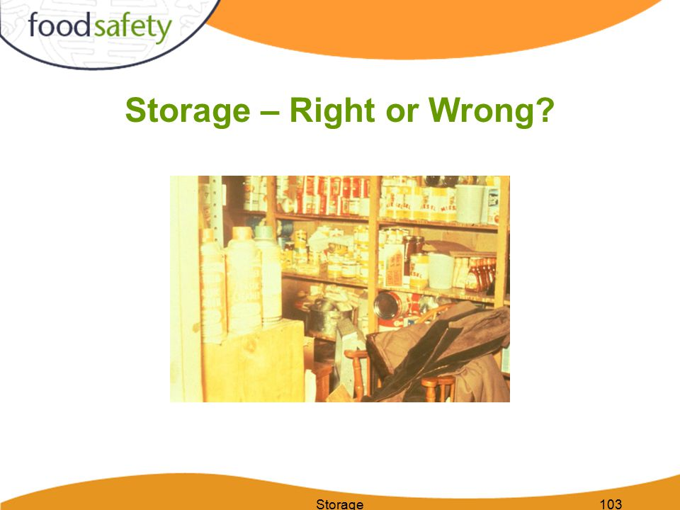 Storage103 Storage – Right or Wrong?