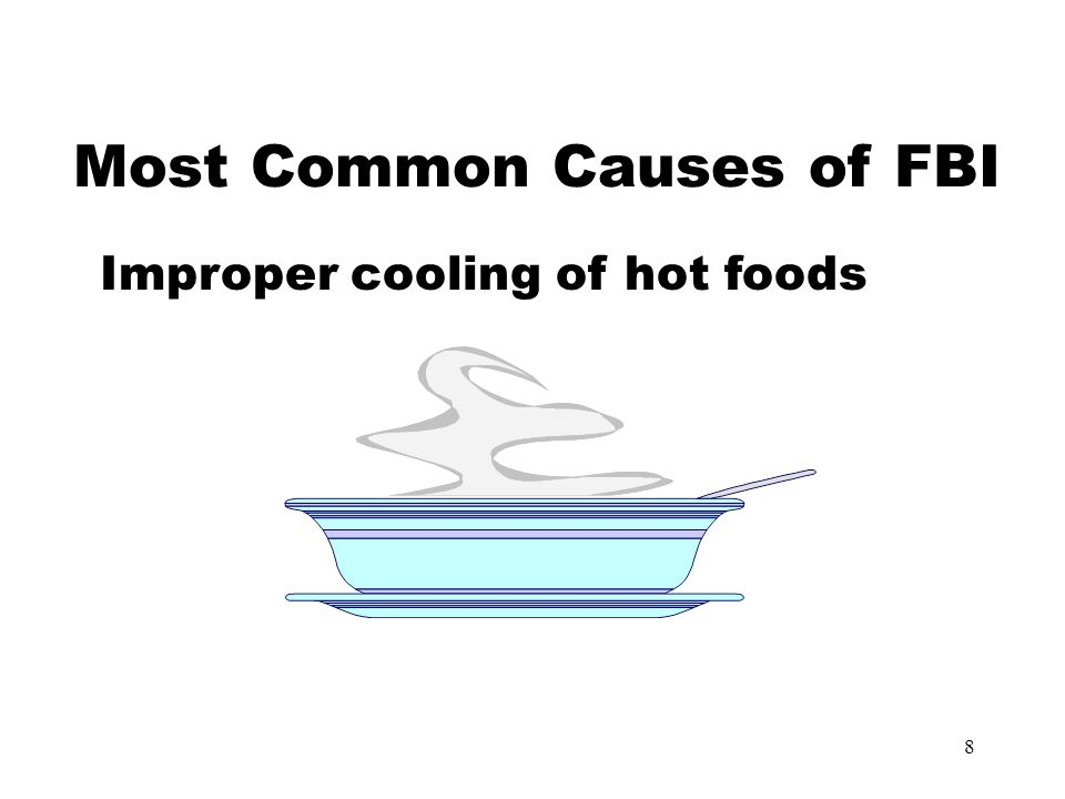 9 Most Common Causes of FBI Improper cooking and holding temperatures