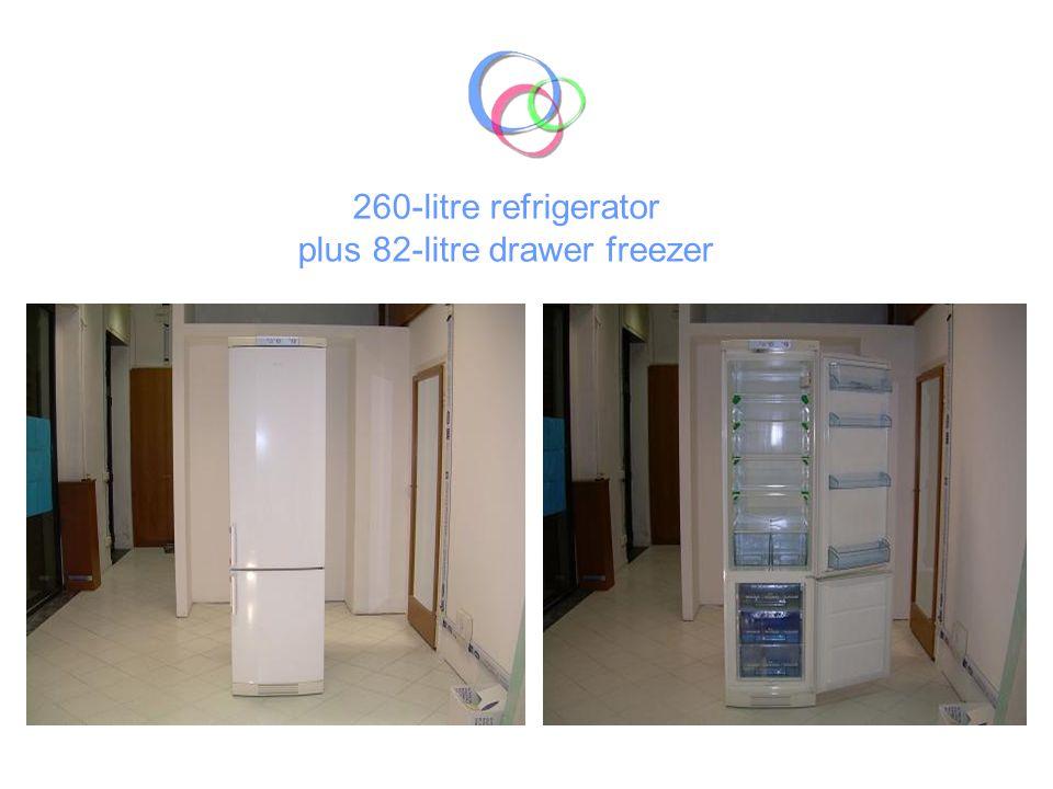 260-litre refrigerator plus 82-litre drawer freezer