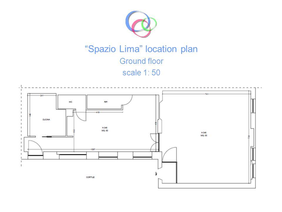 Spazio Lima location plan Ground floor scale 1: 50