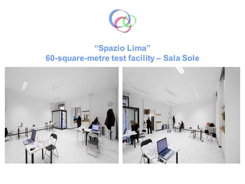 Spazio Lima 60-square-metre test facility – Sala Sole