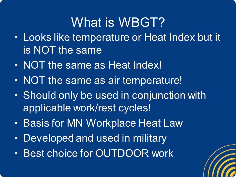 What is WBGT.