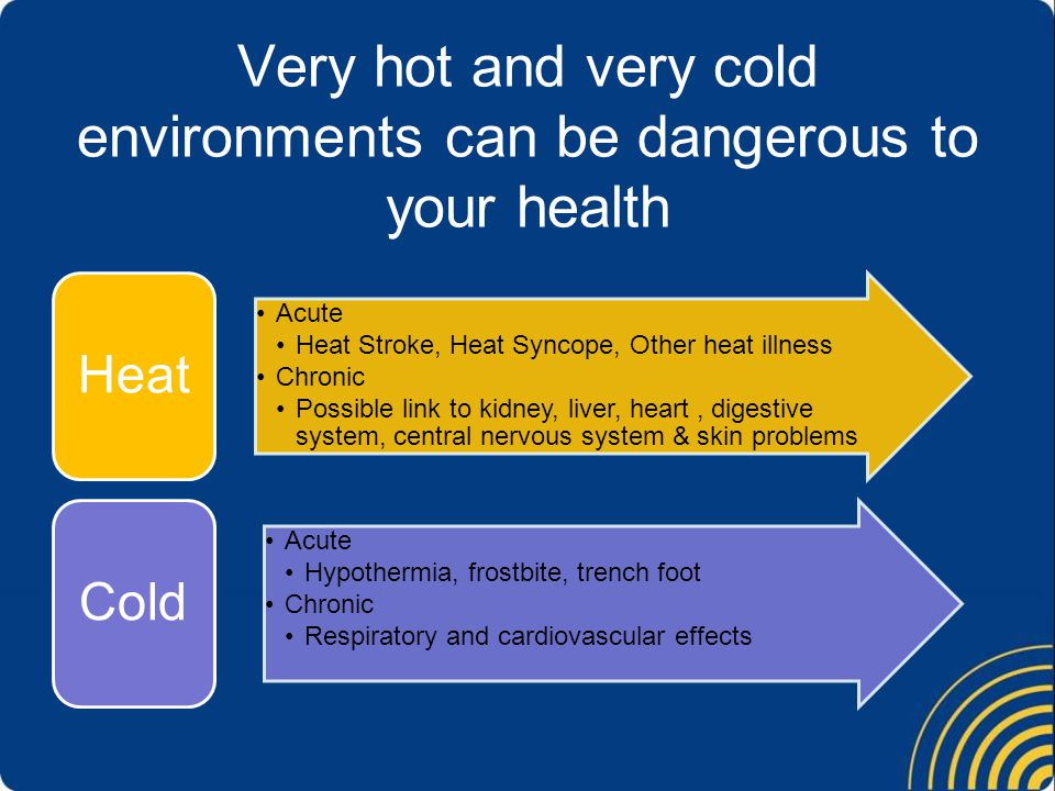 …scientific evidence suggests there is an association between cold exposure and musculoskeletal complaints