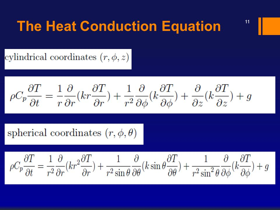 The Heat Conduction Equation 11