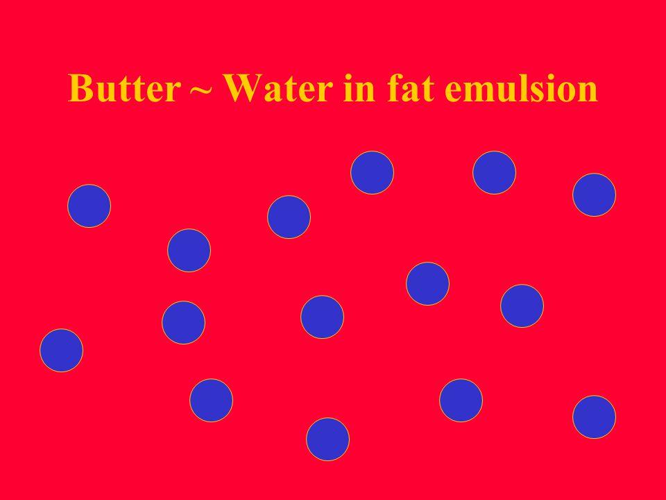 Butter ~ Water in fat emulsion